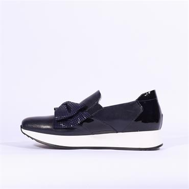 Marco Moreo Enrica Bow Detail Trainer - Navy Combi