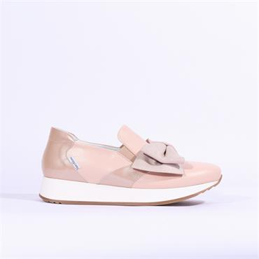 Marco Moreo Enrica Bow Detail Trainer - Nude Combi
