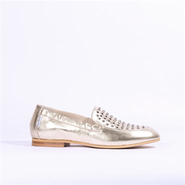 Marco Moreo Lisa Slip On Studded Loafer - Gold