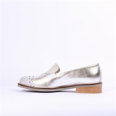 Marco Moreo Rebecca Two Tone Toe Cap - Silver Grey