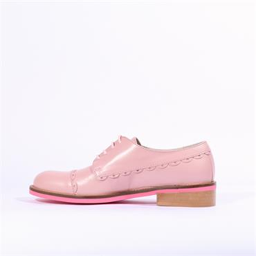 Marco Moreo Rebecca Laced Brogue - Baby Pink