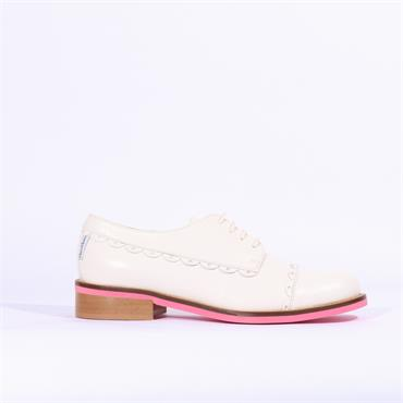 Marco Moreo Rebecca Laced Brogue - Cream