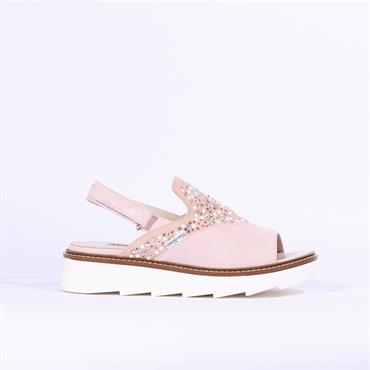 Marco Moreo Tina Sandal With Stud Pearls - Rose