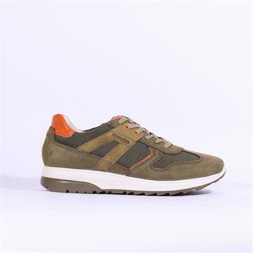Igi & Co Comfort Leather Trainer - Khaki