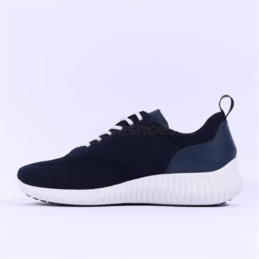 Igi & Co Sail Knitted Trainer - Navy