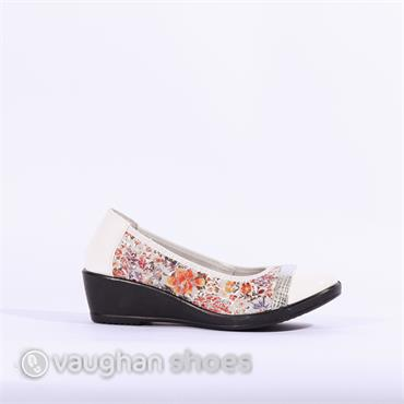 Inea Wedge Band Toe Cap Idole - Floral