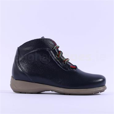 Jose Saenz Rural Lace Up Leather Boot - Navy Leather