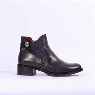 Jose Saenz Boot With Jewel Heel - Navy Combi