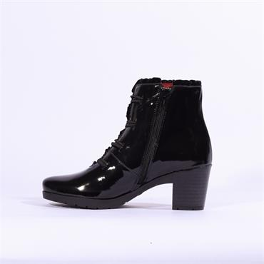 JOSE Saenz Boot With Button Detail - Black Patent