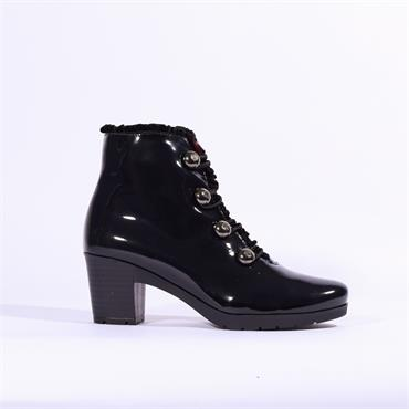JOSE Saenz Boot With Button Detail - Navy Patent
