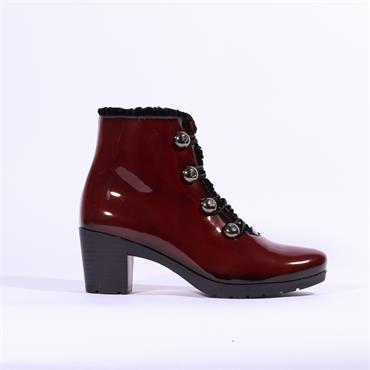 JOSE Saenz Boot With Button Detail - Red Patent