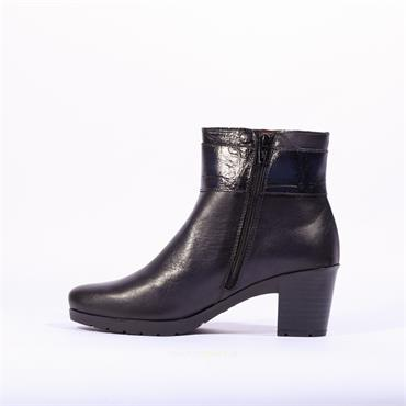 Jose Saenz Ankle Boot Buckle Strap Dory - Navy Leather