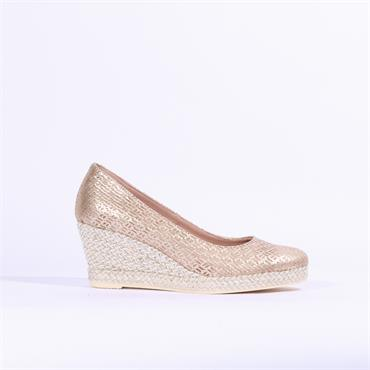 Jose Saenz Weave Style Wedge Yamila - Gold
