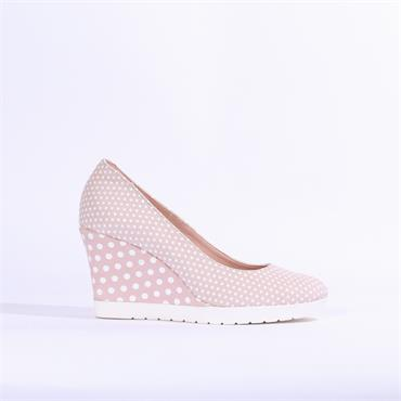 Jose Saenz Higher Wedge With Detail Heel - Candy White