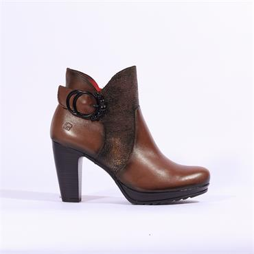 Jose Saenz Boot With Large Buckle - Tan Combi