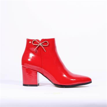 Kate Appleby Alfreton Diamante Bow Boot - Red Patent