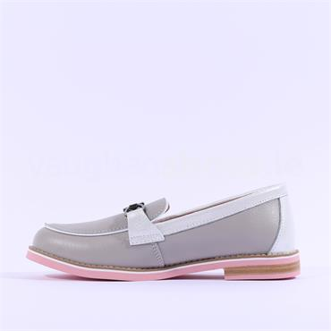Kate Appleby Anegoa Slip On Loafer - Light Grey Leather