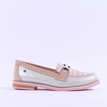 Kate Appleby Anguilla Polka Dot Loafer - White Nude Leather