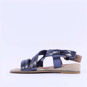 Kate Appleby Carval Flat Strappy Sandal - Navy Leather