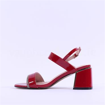 Kate Appleby Tintagel Diamante Sandal - Red Patent