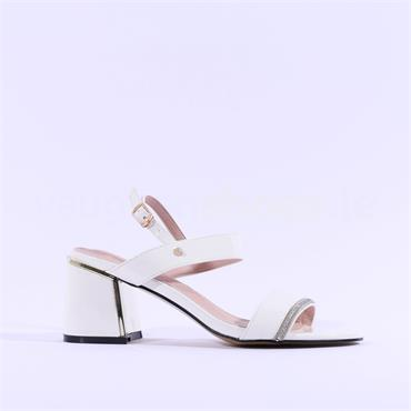 Kate Appleby Tintagel Diamante Sandal - White Patent