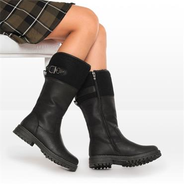 Keddo Chunky Sole Mid Calf Boot - Black Combi
