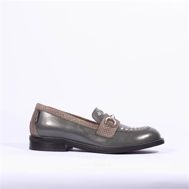 Marco Moreo Stud Toe Links Loafer Lynn - Dark Grey Combi
