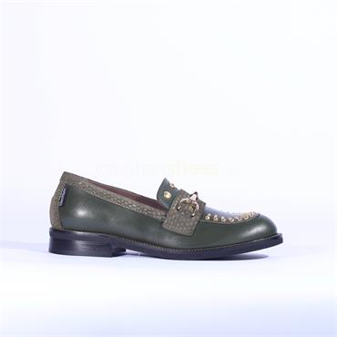 Marco Moreo Stud Toe Links Loafer Lynn - Green Leather