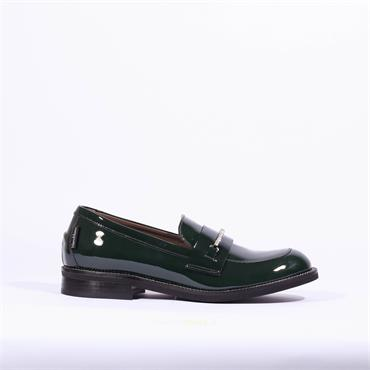 Marco Moreo Diamante Band Loafer Lynn - Deep Green Patent