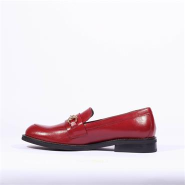 Marco Moreo Slip On Links Loafer Lynn - Red Leather
