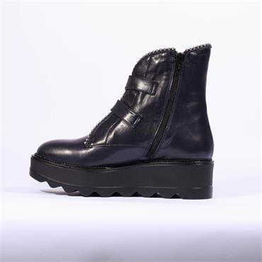 Marco Moreo Double Buckle Stud Boot Dee - Navy Leather