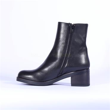 Marco Moreo Side Zip Ankle Boot Shelly - Black Leather