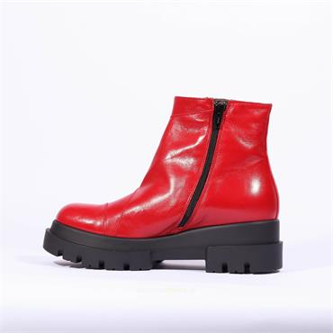 Marco Moreo Chunky Sole Boot Ilaria - Red Leather