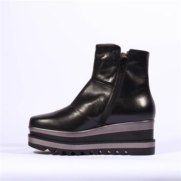 Marco Moreo Patch Side Zip Platform Luna - Black Leather