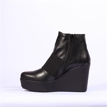 Marco Moreo Stretch Band Wedge Viola - Black Leather