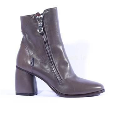 Marco Moreo Block Heel Zip Boot Guilia - Grey Leather