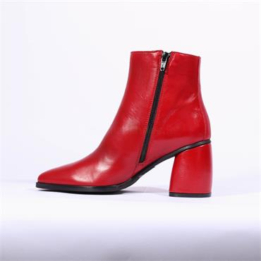 Marco Moreo Side Zip Ankle Boot Aurora - Red Leather