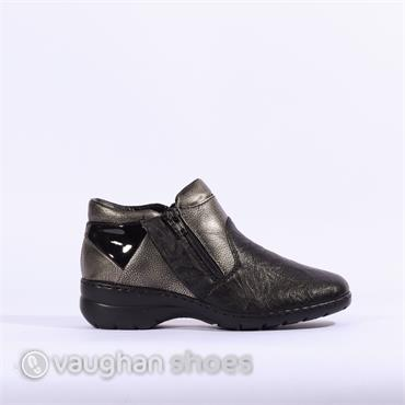 Rieker 2tone 2 Zip Boot Ottawa - Black Combi