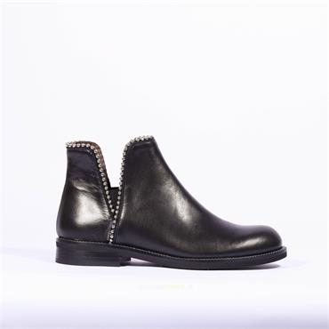 Marco Moreo Stud Gusset Ankle Boot Lynn - Black Leather