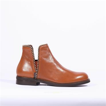 Marco Moreo Stud Gusset Ankle Boot Lynn - Cognac Leather