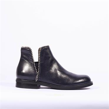 Marco Moreo Stud Gusset Ankle Boot Lynn - Navy Leather