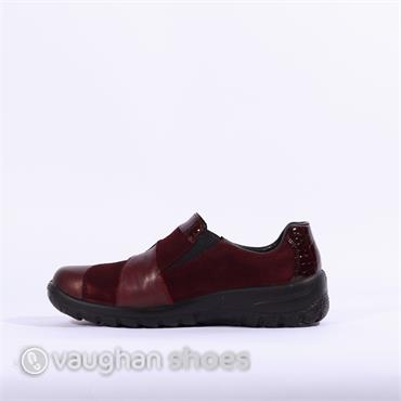 Rieker Slip On 2tone Tex Shoe Cristallin - Wine