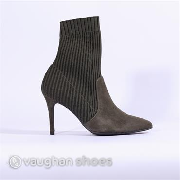 Marian Knitted Stretch High Heel - Olive