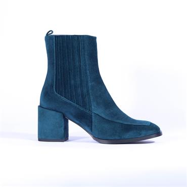 Marian Covered Block Heel Boot Diana - Petrol