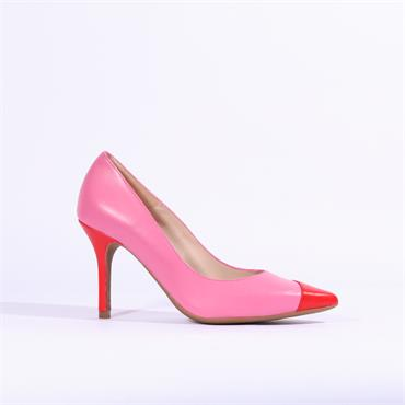 Marian Leather High Heel Dustina - Red Pink Combi