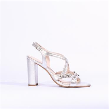 Marian Jewel Detail Strappy Sandal Delma - Silver