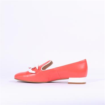 Marian Leather Slip On Loafer Daina - Coral Leather