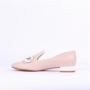 Marian Leather Slip On Loafer Daina - Nude Leather