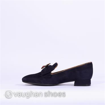 Marian Slip On Loafer Brooch Detail - Navy