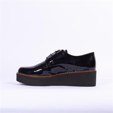 Marroqui Sanchez Platform Oxford Shoe - Navy Patent
